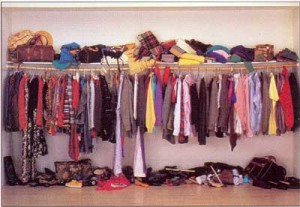 messy closet 300x207 Closet Organizing Tips
